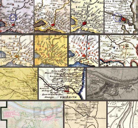 cartografia, mapas y planos históricos de Quart de Poblet (QPHP)
