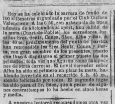 Quart es meta de la carrera ciclista del 21 de junio de 1903
