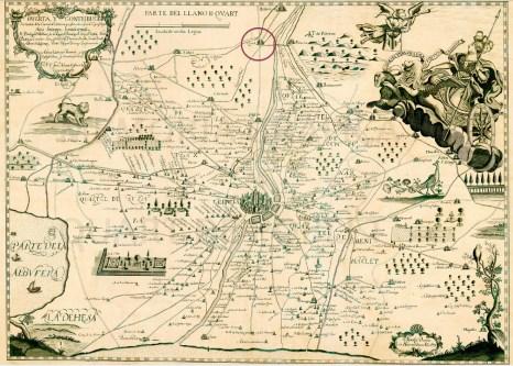 Huerta y contribución de la ciudad de Valencia (Francisco Antonio Cassaus, 1695).