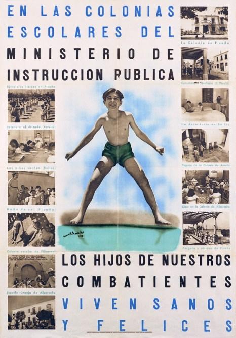 Cartel de Colonias escolares (Colección Universidad de València)
