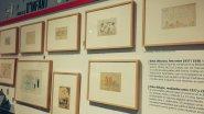 """Detall dels dibuixos exposats en """"Tempesta de Ferro"""" a l'ajuntament de València"""