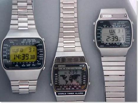 1970s Seiko Quartz LCD watches