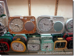 Various Seiko and Citizen travel clocks