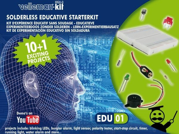 Solderless Educational Electronic Kit Edu01