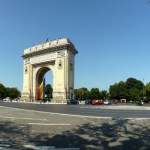 Arch of Triumph. The first, wooden, triumphal arch was built hurriedly, after Romania gained its independence (1878), so that the victorious troops could march under it. Another temporary arch was built on the same site, in 1922, after World War I, which was demolished in 1935 to make way for the current triumphal arch, which was inaugurated in September 1936.