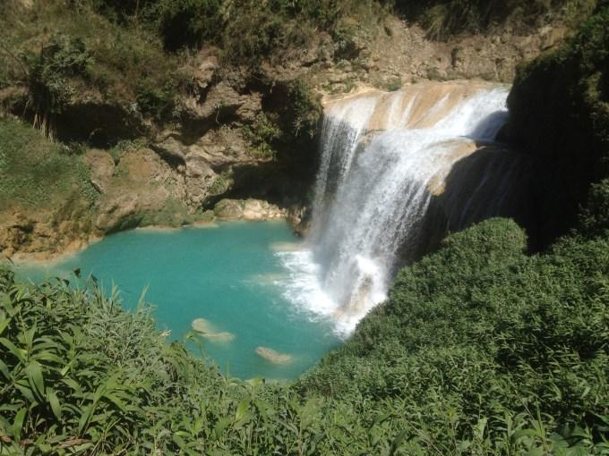 Uma das cachoeiras em El Chiflón, no México