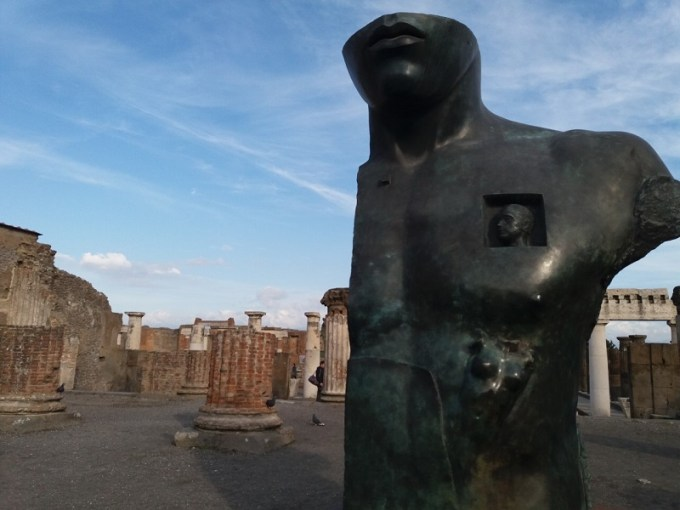 Arte nas ruínas de Pompeia