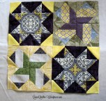 Virtual Quilting Bee blocks - 4 Completed blocks so far