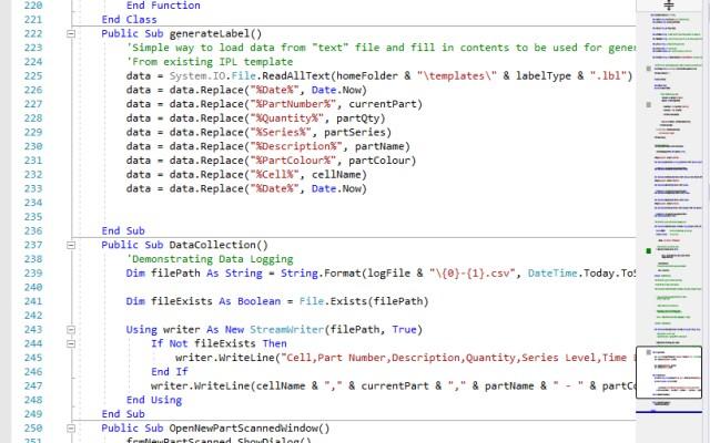 Scanner Software Code Shot