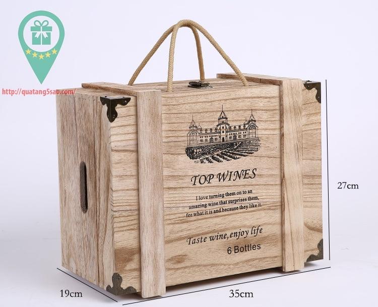 Hộp rượu gỗ