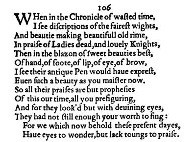 Sonnet Commentaries 106117