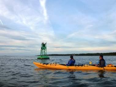 Kayak de mer Coucher de soleil Ile d'Orléans 08