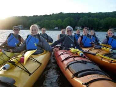 Kayak de mer Coucher de soleil Ile d'Orléans 14