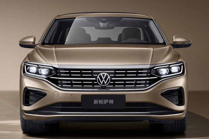 New Volkswagen Passat 2021 seen from the front