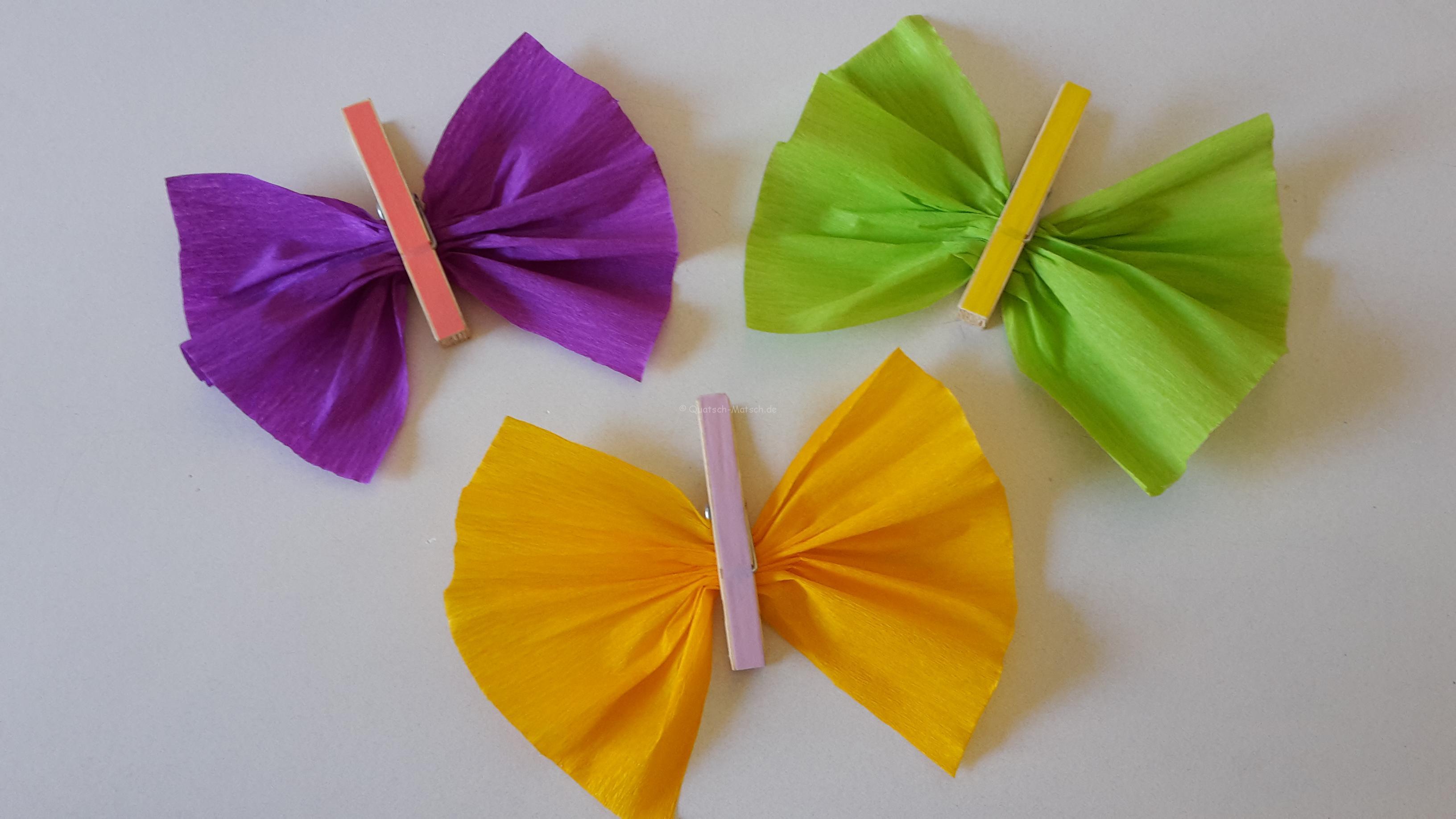 Schmetterlinge Aus Wäscheklammern  Diy  Der Familienblog