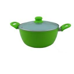 keramisk Gryta grön