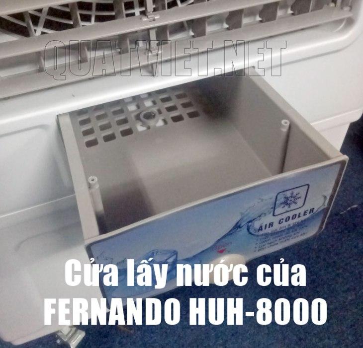 Cửa lấy nươc của quạt điều hòa Fernando HUH8000