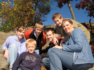 image of family at taylors falls