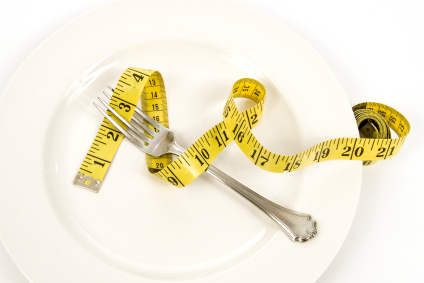 image of plate with tape measure on it