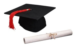 image of graduation cap and diploma