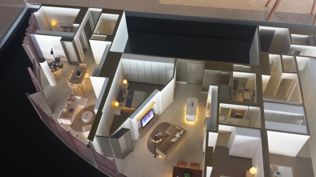 The interior of one of the proposed apartments at The Towers at Elizabeth Quay