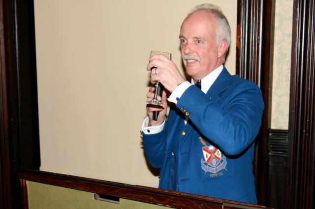 LVBC Captain, Maurice Warnock, toasts the Queen