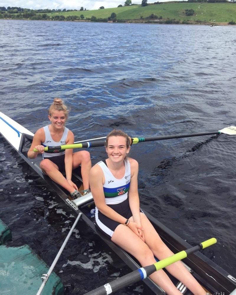Queen's Rowing at the Homes International Regatta 2017. Vikki Wallace and Emily Jordan. QUBLBC 2-