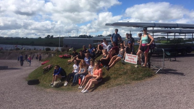 Queen's Rowing arriving at the National Rowing Centre in Cork for Irish Championships 2017