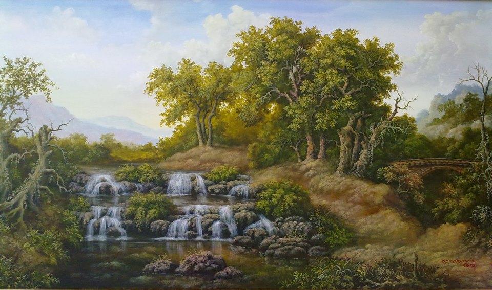 Lukisan Pemandangan Alam  NATURALISM PAINTING