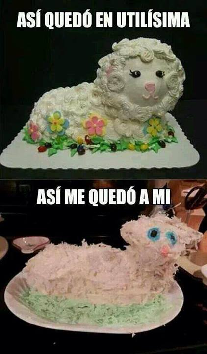 Easter Cakes Gone Bad