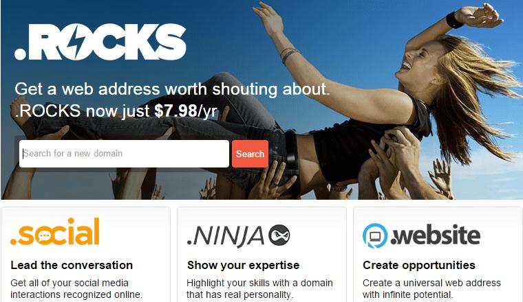NeedName.com new web address to register .Social .Ninja .Website .Rocks