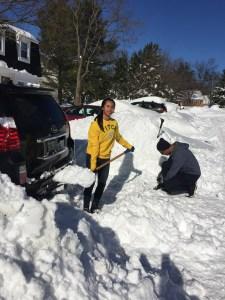 Maganda.com- Ian and Pia - Snow clean up