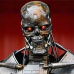 Arnold Schwarzenegger selfie with Terminator Robot