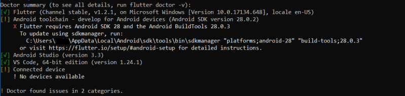 QUE com Resolved  Flutter requires Android SDK 28 and