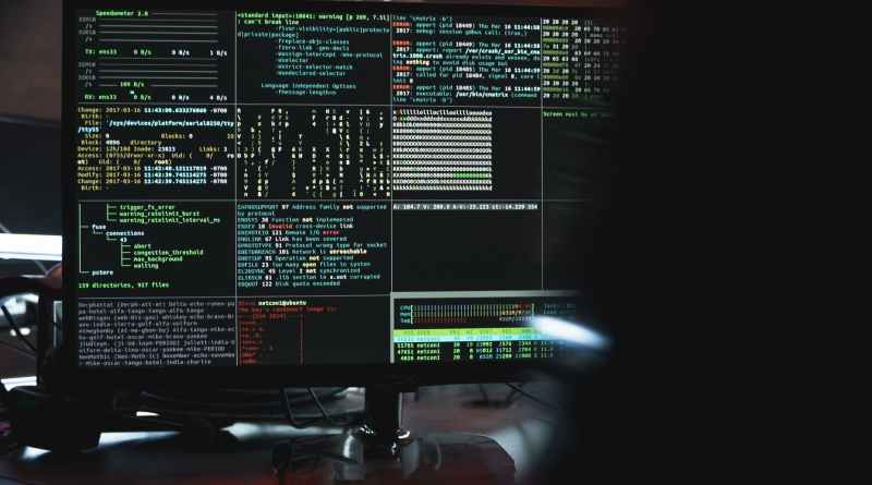 close up view of system hacking in a monitor