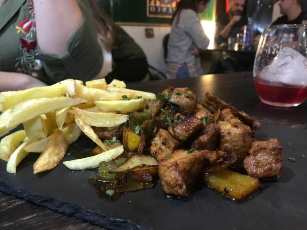 Carne de cochino de La Taberna