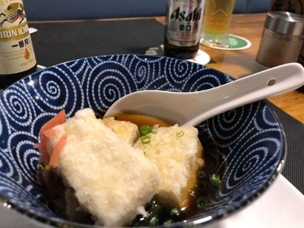 Tofu blanco con salsa especial