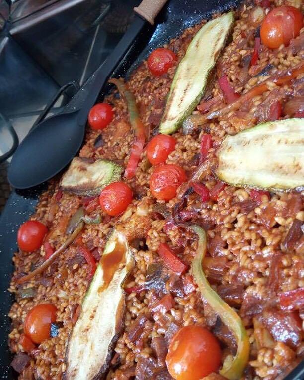 Paella de verduras Directo al grano