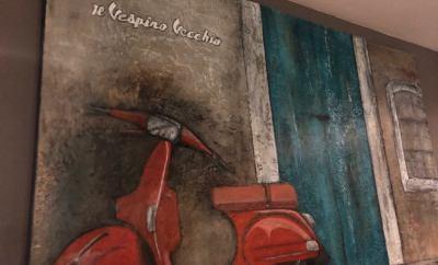 Mural Il vespino vecchio