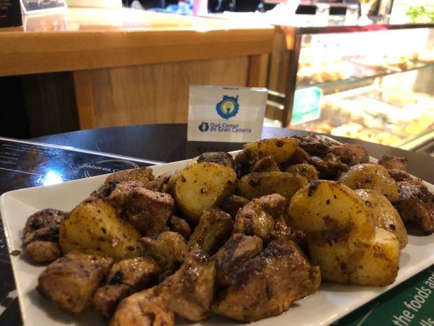 Carne de cochino Piscos y buches