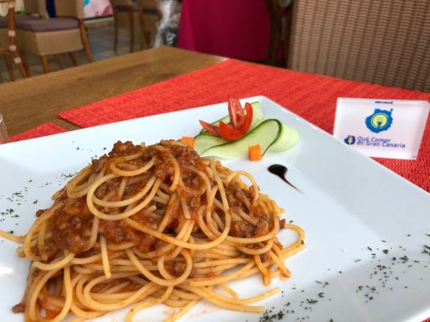 Espaguetis a la boloñesa Restaurante Vilvadi
