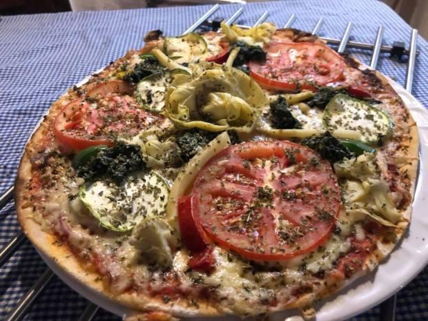 Pizza vegetal el cocodrilo