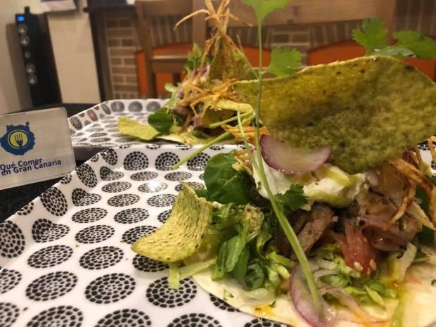 taco canario plato de autor el nuevo guanchito