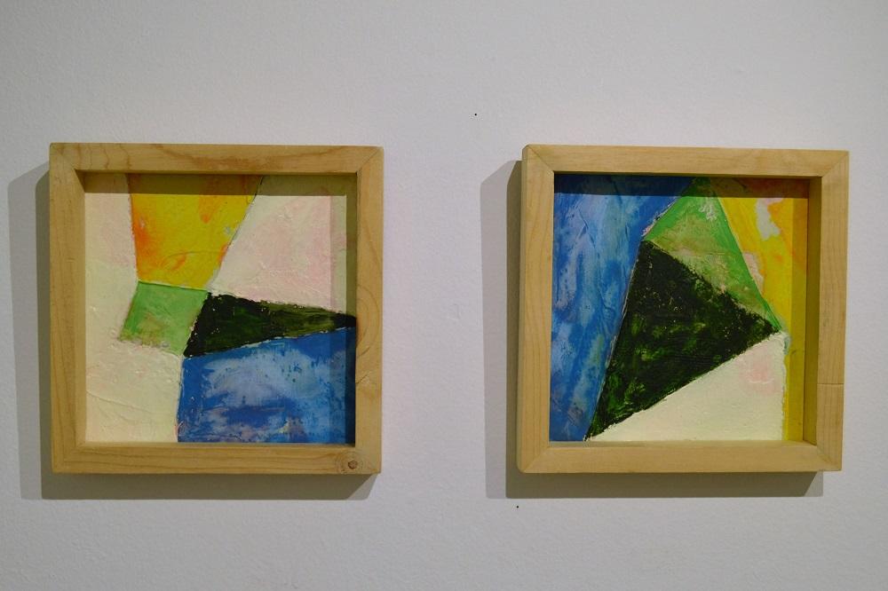 Dos espacios de la exposición Spaces and Portraits, de Lorenzo Sanjuán-Pertusa.