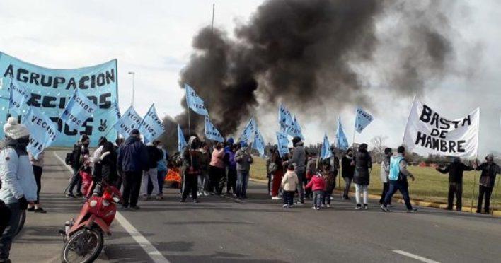 Por cuarto día, se mantiene la protesta y el corte en la Ruta 226