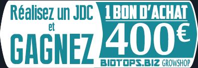 Gagnez un bon d'achat de 400 € avec Biotops.BIZ