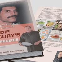 "Książka Petera Freestone'a ""Freddie Mercury's Royal Recipes"" po angielsku"