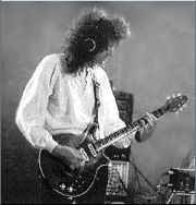 Brian May on Guitar with Queen