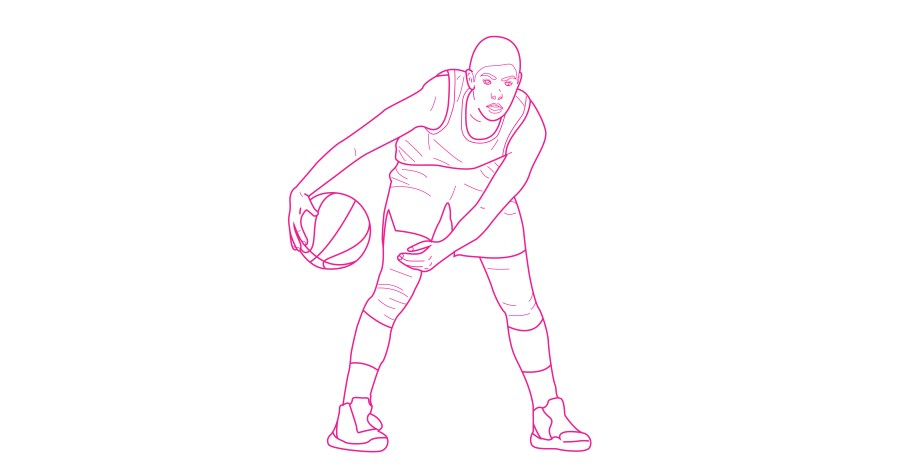 Kelsey Plum free WNBA coloring book page from Queen Ballers Club