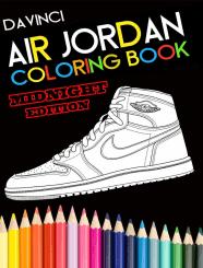 Air Jordan basketball shoes coloring book